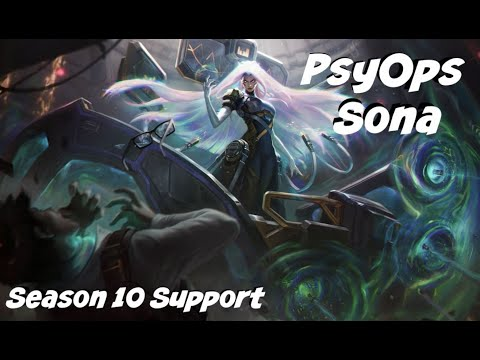 League of Legends: PsyOps Sona Support Gameplay