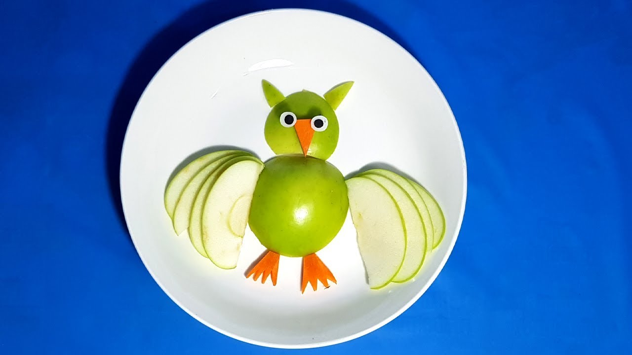 How to make a Owl with apples - Owl apple | Fruit Carving