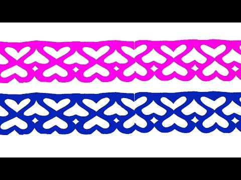 paper cutting design#How to make paper cutting border designs?Easy paper craft.