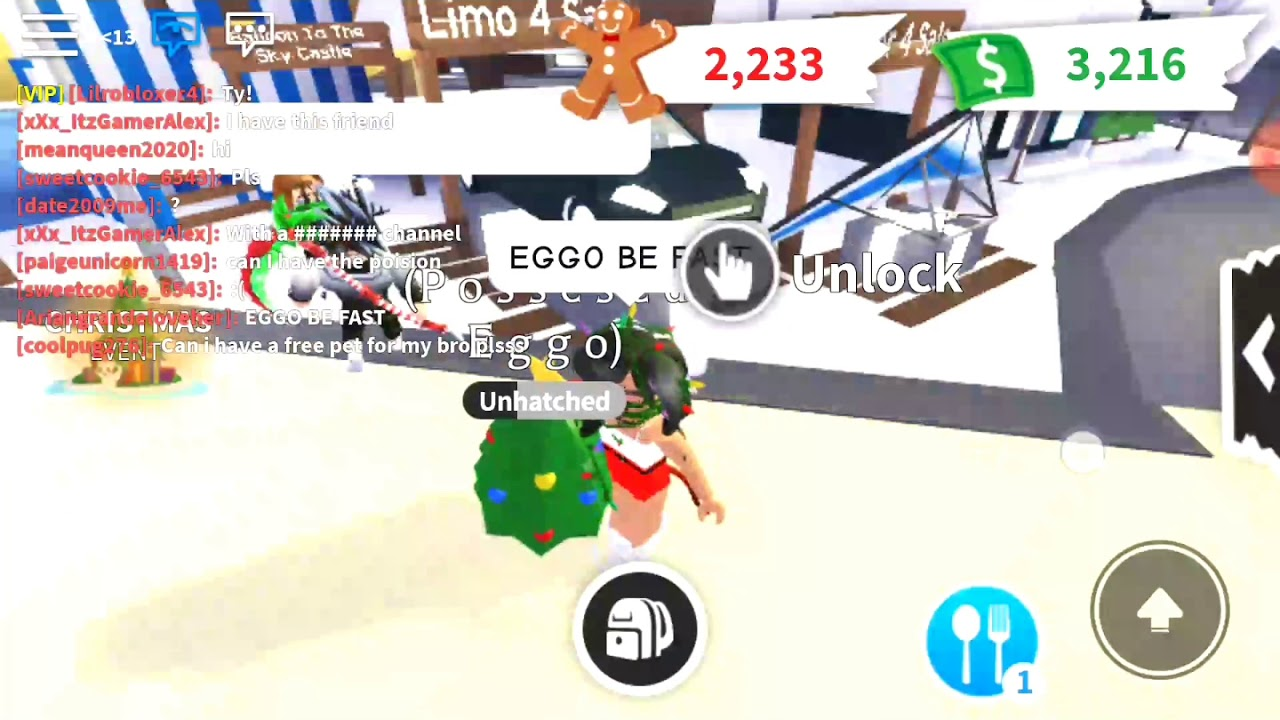 Leveling up a Christmas egg ADOPT ME - YouTube
