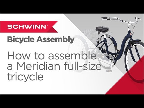 fbde85a5f12 How to Assemble a Schwinn Meridian Full Size Adult Tricycle - YouTube