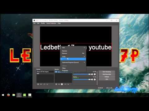 How To Create Scrolling Text In OBS