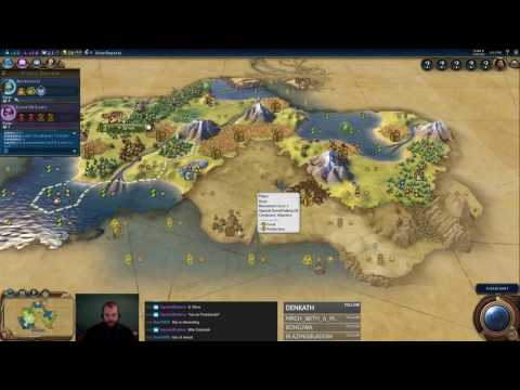 Civilization 6 Multiplayer 4: China [1/2] ( 6 Player Free For All) Gameplay/Commentary