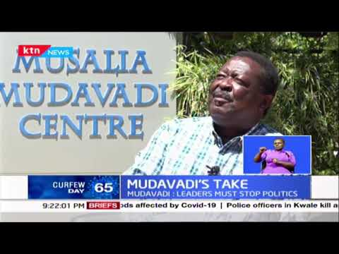 Musalia Mudavadi is asking leaders across the political divide to stop tribal and ethnic politics