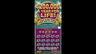 $10 - $200k A YEAR FOR LIFE - WIN! Ticket from Mass. Lottery! Scratch Off instant tickets WIN!
