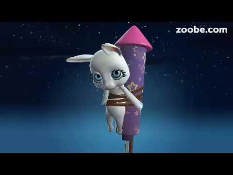 Zoobe Зайка- веселое поздравления с Пасхой - Прикольное видео онлайн