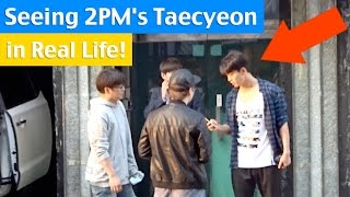Seeing 2PM's Taecyeon at JYP Entertainment!