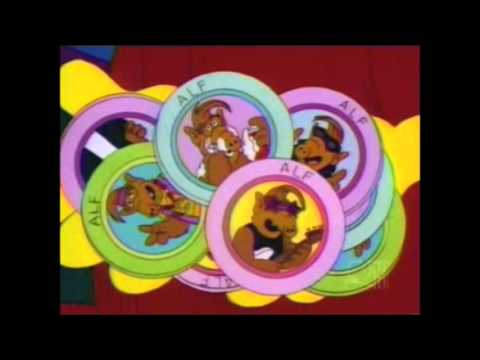 The Simpsons - Alf pogs - YouTube