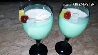 Fruit cocktail  milkshake Easy cooking with as