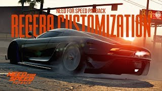 Need for Speed Payback - KOENIGSEGG REGERA CUSTOMIZATION + RACE