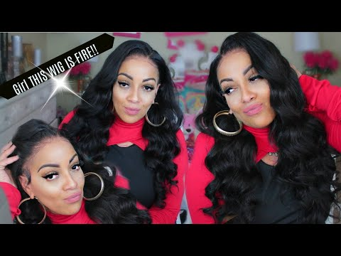 LOOK AT THIS LACE FRONT WIG, 10 MINUTE EASY GLAM HAIR Cocoblackhair - 동영상