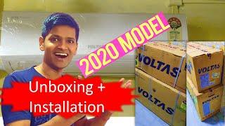 Voltas 1 Ton AC Unboxing and Installation Voltas 1 ton inverter AC Voltas AC 125V DZX R32