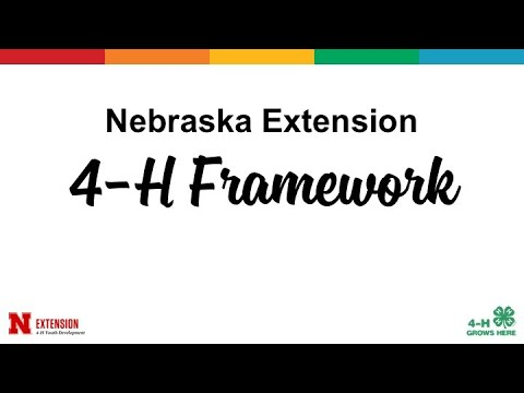 Nebraska Extension 4-H Framework
