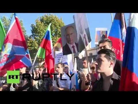 Акция в болгарии в поддержку россии