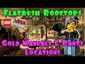 Flatbush Rooftops - Gold Manuals & Pants Locations (The Lego Movie Video Game) FREE PLAY