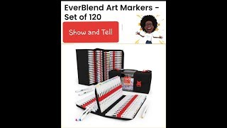 Show and Tell, Arteza Markers (120 set)