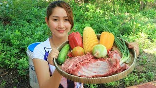 Yummy Pork Rib Sour Sweet Stir Fry Vegetable - Pork Rib Cooking - Cooking With Sros