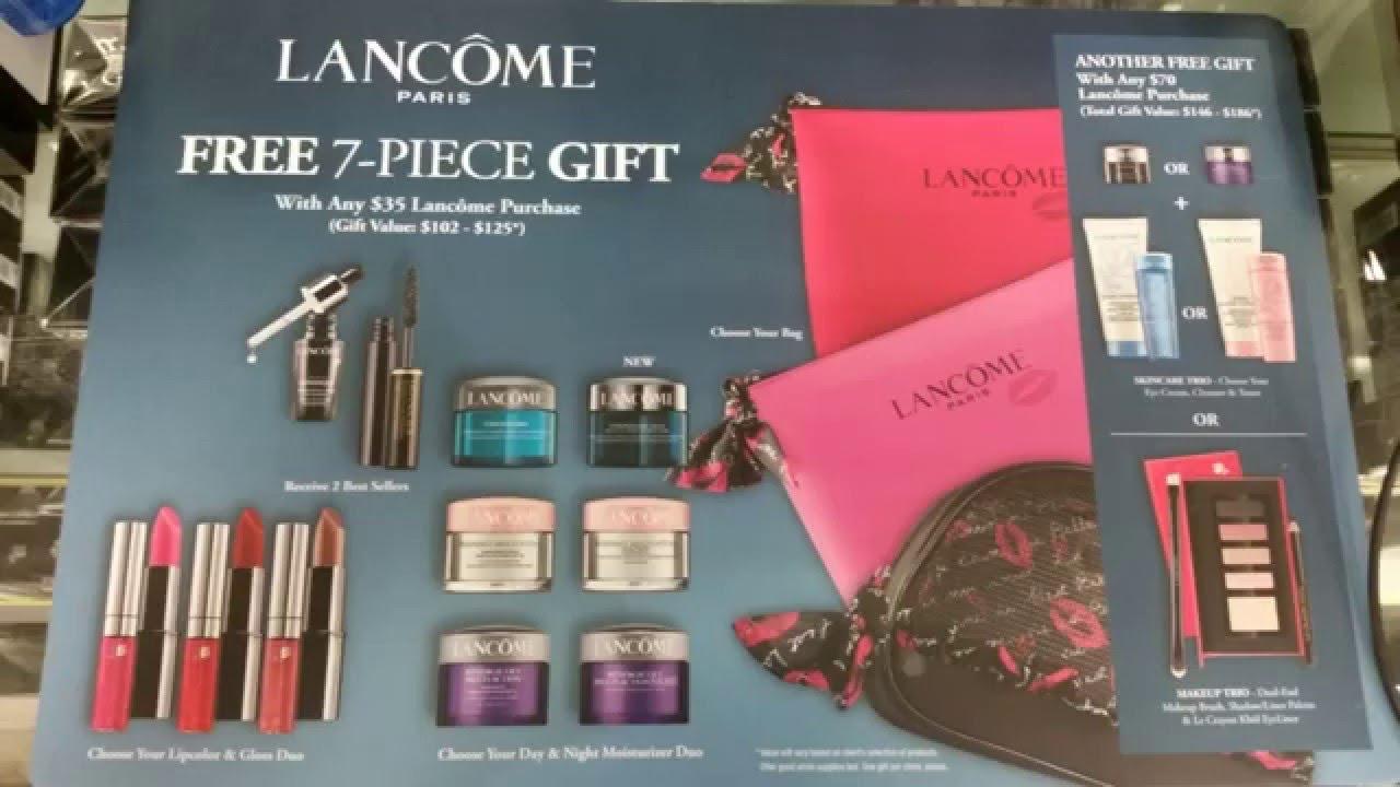 Free lancome 7-PC gift set unboxing (Feb 2016) - YouTube