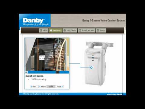 danby air conditioner dual hose portable 3 in 1 home comfort 1 59