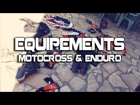Mes Equipements de Motocross et Enduro !