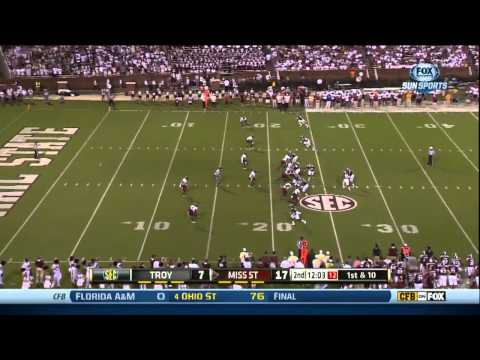 09/21/2013 Troy vs Miss State Football Highlights