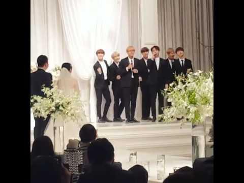 BTS singing in wedding party