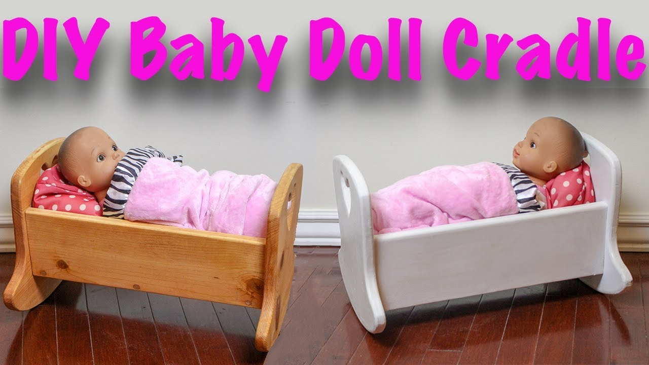 Diy Baby Doll Crib Youtube
