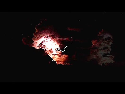 Dramatic moment: Electrical storm lights up sky over north Australia