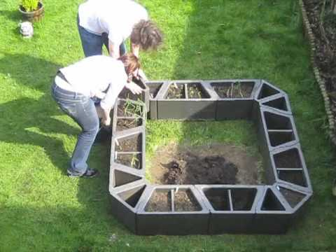 Easy Raised Bed Vegetable Garden System - Youtube