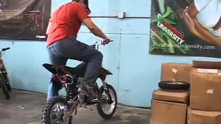 125cc pit bike vs a 184cc pit bike
