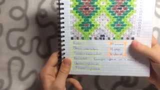 Обзор на мои фенечные тетради  by BatCat