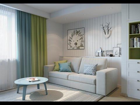 Современный интерьер маленькой квартиры 25 кв.м в светлых ...