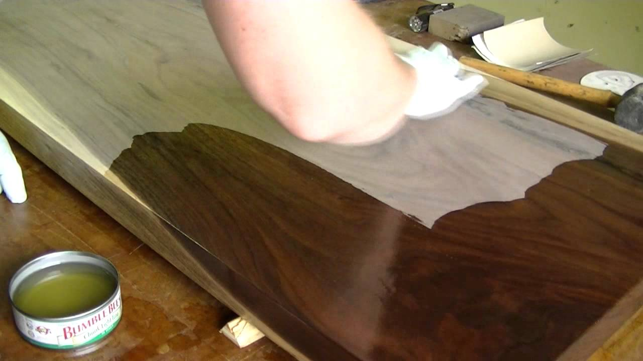Finishing Walnut Table Top   YouTube