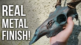 HOW TO METALIZE A SKULL Tutorial with Copper/Bronze!