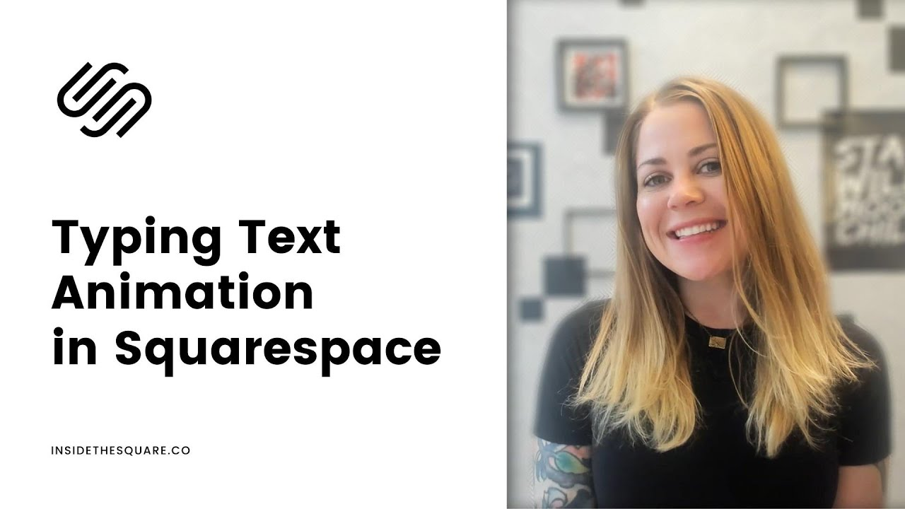 How to create a typing text animation in Squarespace // Squarespace CSS Tutorial