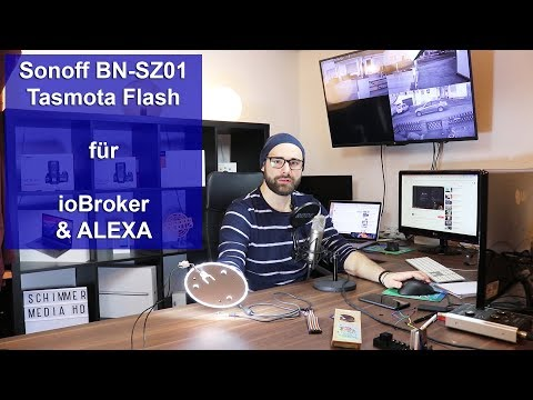 [Sonoff BN-SZ01 SmartHome LED] Test & Tasmota Flash für ioBroker ALEXA [Tutorial] [HD]