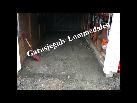 Støp garasjegulv i