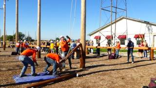 Northwest Lineman College - Crossarm change out in 6 minutes 45 seconds
