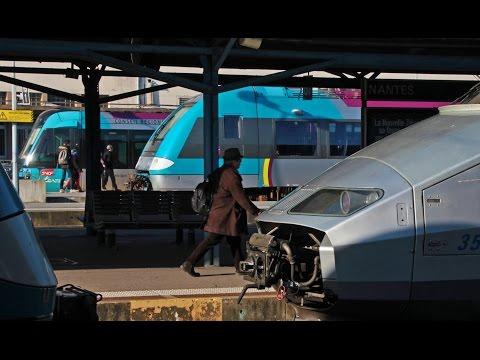 Nantes Station - Gare de Nantes SNCF. TER, Tram-train, TGV & Fret