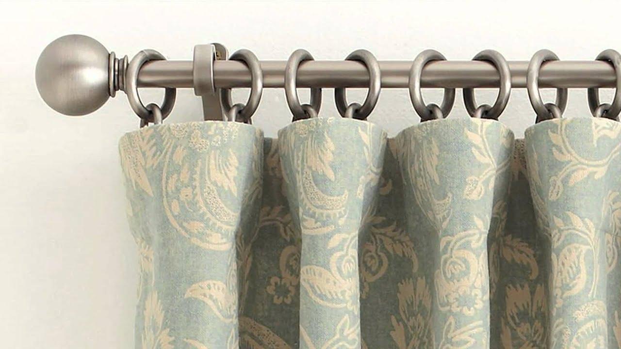 how to correctly hang a drape at home pottery barn