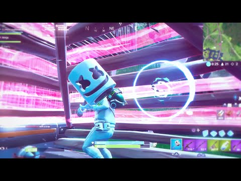Marshmello X Ninja Fortnite Duos - World Cup Practice Best Moments | Put Yo Hands Up X Slushii