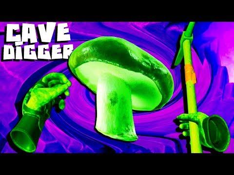 Eating Cave Mushrooms! - Cave Digger VR