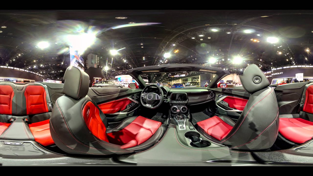 360 interior view of 2016 chevrolet camaro at chicago auto show 2016 youtube. Black Bedroom Furniture Sets. Home Design Ideas