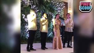Ogie Alcasid, Matteo Guidicelli, Angeline Quinto, Erik Santos Serenade Spouses Of APEC Leaders