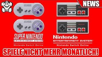 Switch Online - Kostenlose SNES / NES Spiele nicht mehr monatlich!
