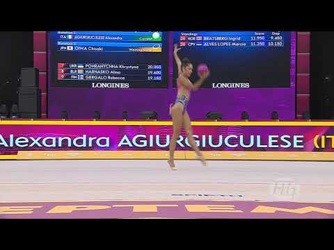 2019 Rhythmic Worlds, Baku (AZE) – Alexandra AGIURGIUCULESE (ITA), Qualifications Ball