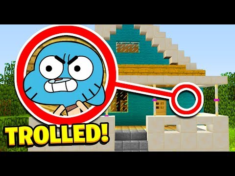 Minecraft : 5 WAYS TO PRANK GUMBALLS HOUSE! (Ps3/Xbox360/PS4/XboxOne/PE/MCPE)