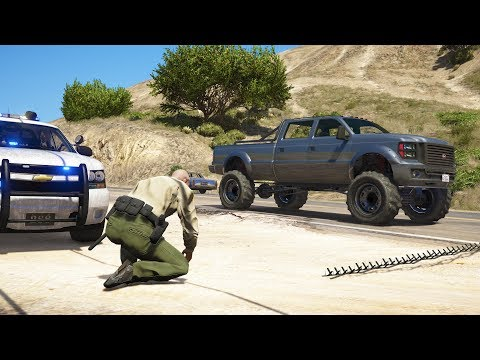 LSPDFR - Day 754 - Spike strips deployed
