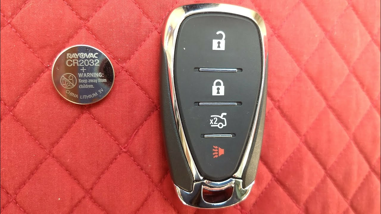 Chevrolet Remote Key Fob Battery Replacement Cruze Malibu Sonic Camaro Spark Volt Bolt Etc Youtube