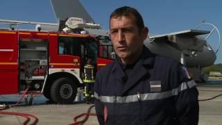 Formation des pompiers de l'armée de l'air